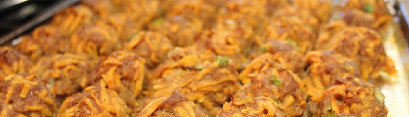 turkey sweet potato meatballs